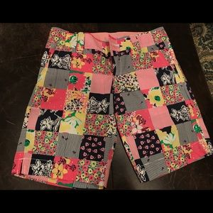 Lilly Pulitzer Patchwork Bermuda Shorts
